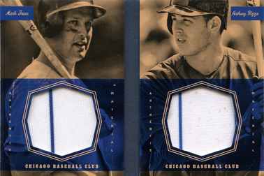 2013 Panini America's Pastime Dual Exhibits Jerseys #CHC w/Anthony Rizzo Silver SN#30/50