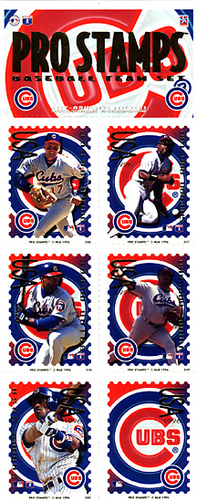 1996 Pro Stamps #NN Cubs Stamps Sheet
