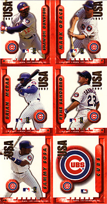 1997 Crown Pro Stickers #NN Cubs Stamps Sheet